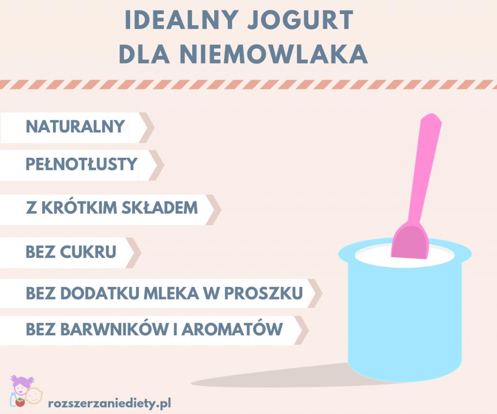 idealny jogurt dla niemowlaka