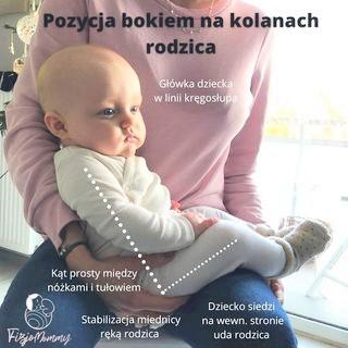 karmienie dziecka na kolanach rodzica